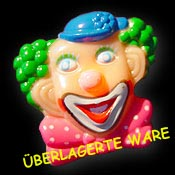 042-403 Clown Brosche gruene Locken